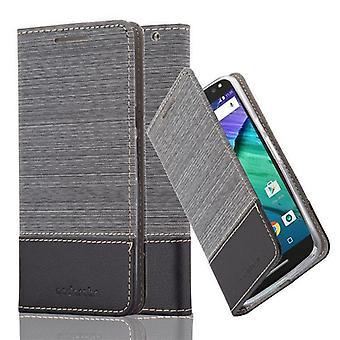 Cadorabo Hülle für Motorola MOTO X STYLE Case Cover - Handyhülle mit Magnetverschluss, Standfunktion und Kartenfach – Case Cover Schutzhülle Etui Tasche Book Klapp Style