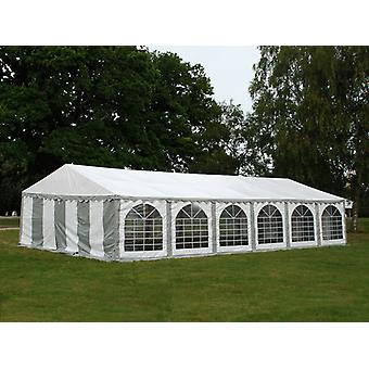 Tente de réception Exclusive 5x12m PVC, Gris/Blanc