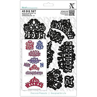 Xcut A5 Die Set 8 Pkg Ornate Sentiments Xc503925