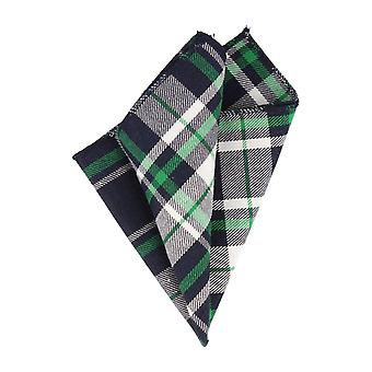 Andrews & co. handkerchief Hanky Plaid Navy Blue Green White