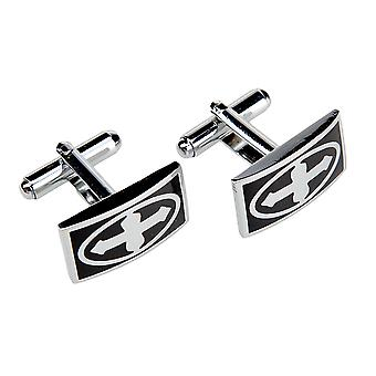 Marcell Sanders men's cufflinks cross black stainless steel