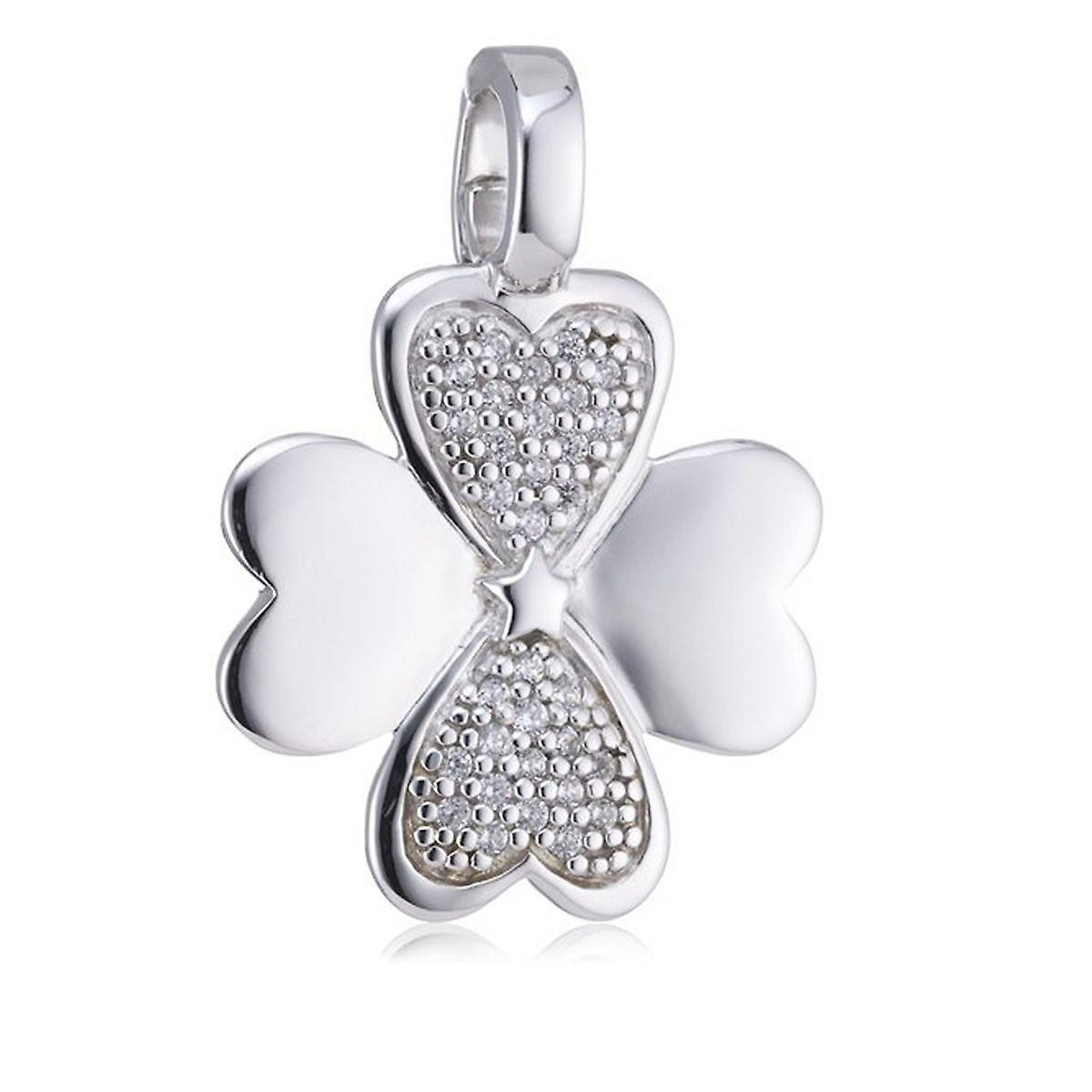 s.Oliver jewel ladies pendant charm silver four-leaf clover SO598/01 - 378888