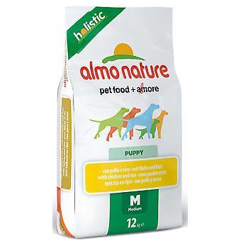 Almo Nature holistisk hund Medium hvalp kylling & ris 12kg