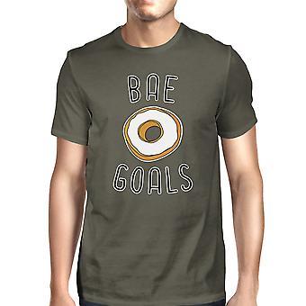 BAE doelen mannen donkere T-shirt van de grijze creatieve ideeën van de verjaardagsgift