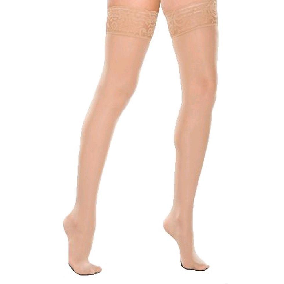 Therafirm Ladies Sheer Support Thigh Highs [Style B] Natural  XXL