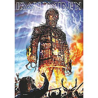 Affiche de Maiden Wicker Man grand tissu de fer / drapeau 1100 x 750 mm (h)