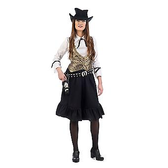 Cowgirl Western girl Sheriff ladies costume of Wild West