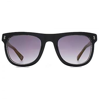 Hook LDN Latitude Chunky Wayfarer Acetate Sunglasses In Black On Clear