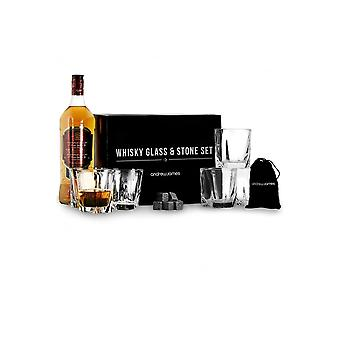 Andrew James Whisky glas en steen instellen