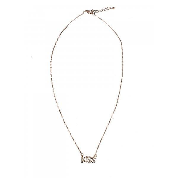 W.A.T Gold Style Crystal Kiss Necklace
