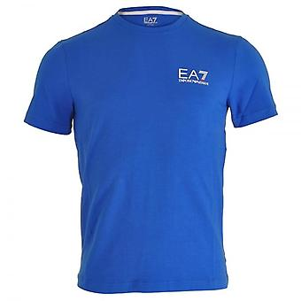 EA7 Emporio Armani Train Core ID Logo V-Neck T-Shirt, Royal Blue, X-Large
