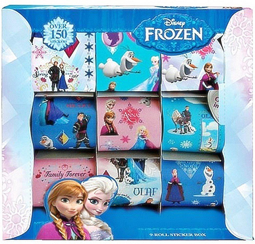 Officially Licensed | FROZEN | 9 Rolls of Stickers in a BOX