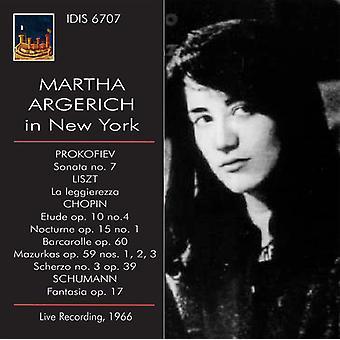 Prokofiev / Argerich, Martha - Martha Argerich i New York [CD] USA import