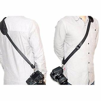 JJC Quick Release Professional Shoulder Sling Strap with storage pocket. Fits to cameras tripod socket with ABS Plate. For Sony Alpha DSLR-A100, DSLR-A200, DSLR-A230, DSLR-A290, DSLR-A300, DSLR-A330, DSLR-A350, DSLR-A380, DSLR-A450, DSLR-A500, DSLR-A550, DSLR-A560, DSLR-A580, DSLR-A700, DSLR-A850, DSLR-A900
