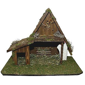 Crib Nativity scene wood Nativity JERUSALEM stable hand work for characters up to 13 cm