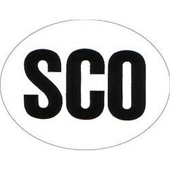 W4 Large Oval SCO Sticker