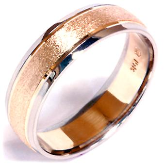 Rivestimento in pietra Wedding Band 14k Gold