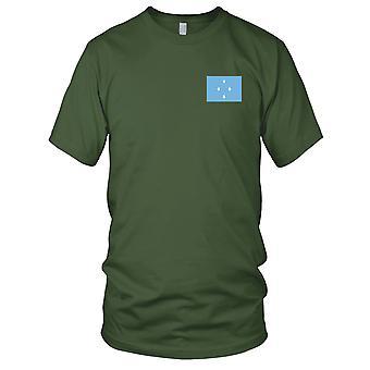 Mikronesia nasjonale flagg - brodert Logo - 100% bomull t-skjorte damer T skjorte