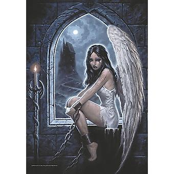 Gothic Captive Angel (Spiral Collection) large fabric poster / flag 1100mm x 750mm (hr)
