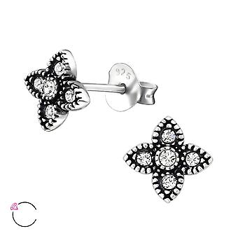 Four Point Star crystal from Swarovski® - 925 Sterling Silver Ear Studs