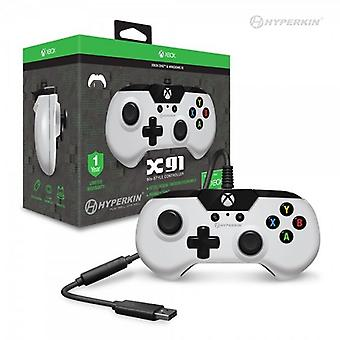 X91 wired Controller per Xbox One / Windows 10 (bianco) - Hyperkin
