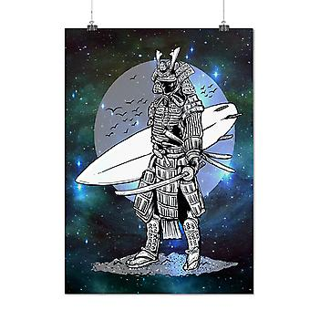 Matte or Glossy Poster with Warrior Surf Cool Fashion | Wellcoda | *d2832