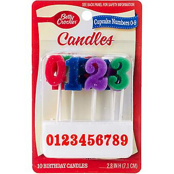 Betty Crocker Birthday Candles For Cupcakes 20/Pkg-Numerals BC23322