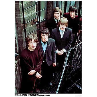Rolling Stones Fire Escape London 1965 Poster Poster Print