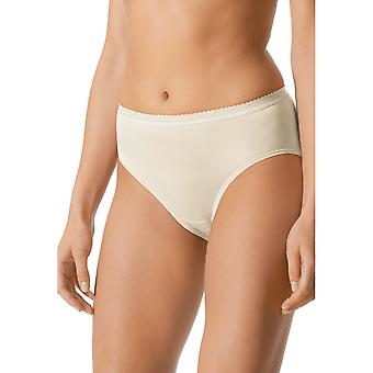 Mey 89202-20 Women's Pearl White Solid Colour Full Panty Highwaist Brief
