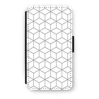 Samsung Galaxy A3 (2016) Flip Case - Cubes black and white