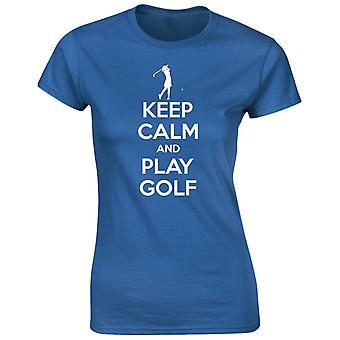 Keep Calm And Play Golf Womens T-Shirt 8 Colours (8-20) by swagwear