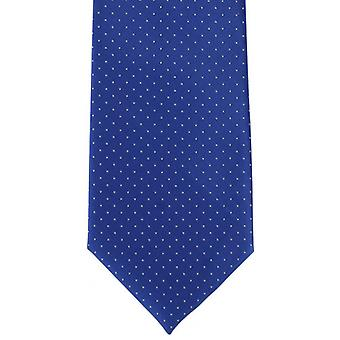 Michelsons of London Micro Dot Polyester Tie - Royal Blue