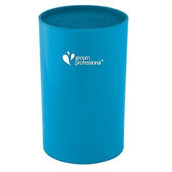 Groom Professional Scissor Cylinder Cyan Blue