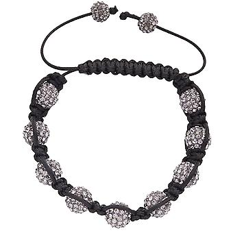 Iced Out Unisex Bracelet - Beads charcoal