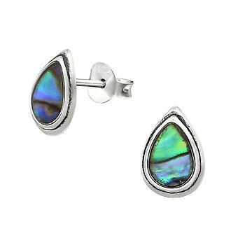 Drop - 925 Sterling Silver Plain Ear Studs