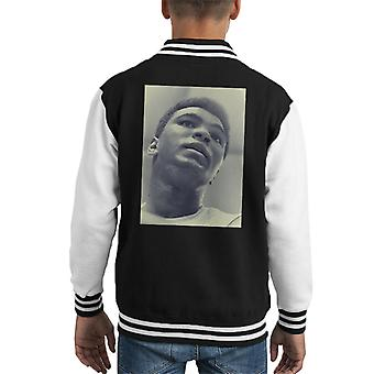 Muhammad Ali Cassius Clay Training Session 1966 Black And White Kid's Varsity Jacket