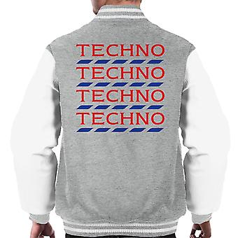 Techno Tesco Logo mannen Varsity Jacket