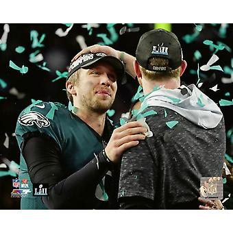 Nick Foles & Carson Wentz Super Bowl LII Photo Print