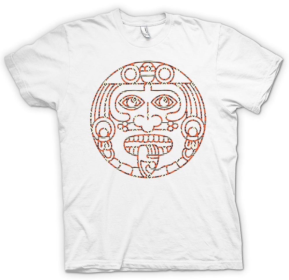 Mens T-shirt - Aztec Tribal Tongue Tattoo