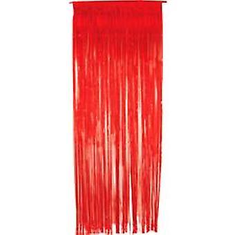 Folie aufgeschlitzt Vorhänge rot