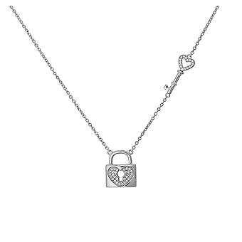 Orphelia plata 925 collar llave + cerradura ZK-7022