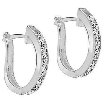IBB London Channel Set Huggy Earrings - Silver