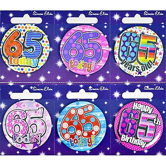 Simon Elvin Small Happy Birthday Badges (Pack of 6)