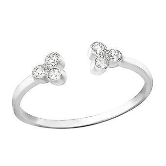Open - 925 Sterling Silver Jewelled Rings - W37393X
