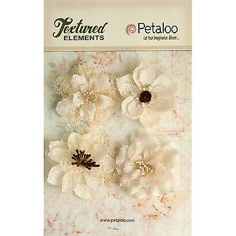 Textured Elements Burlap Blossoms 2.25
