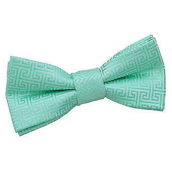 Mint Green Greek Key Pre-Tied Bow Tie