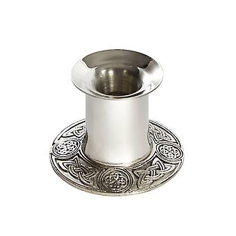 Celtic Candlestick Holder & Cast Pewter Base - 2 ��
