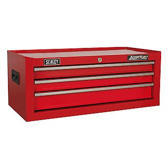 Sealey Ap223 Mid-Box 3 Drawer With Ball Bearing Runners - Red