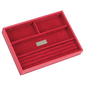 Red & Red Classic 4 Section Jewellery Tray