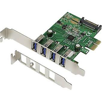 Renkforce 4 ports USB 3.0 controller card USB type A PCIe